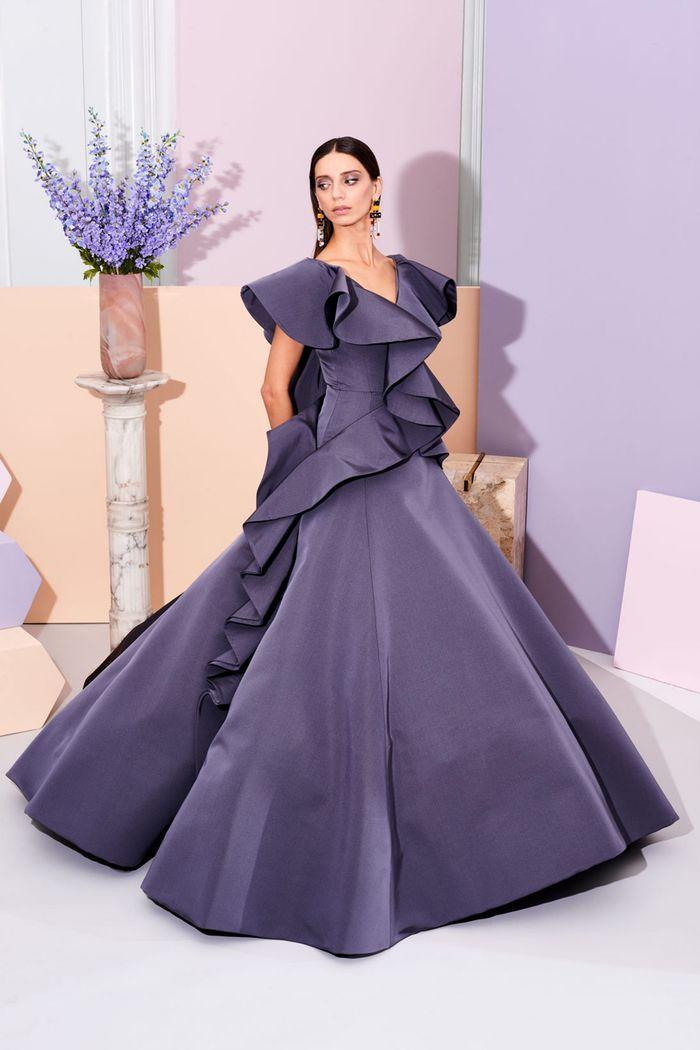 Свадебное фиолетовое платье Christian Siriano