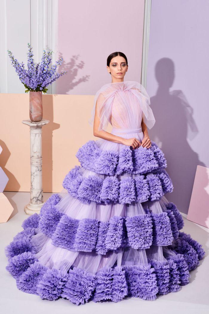 Сиреневое платье на свадьбу Christian Siriano