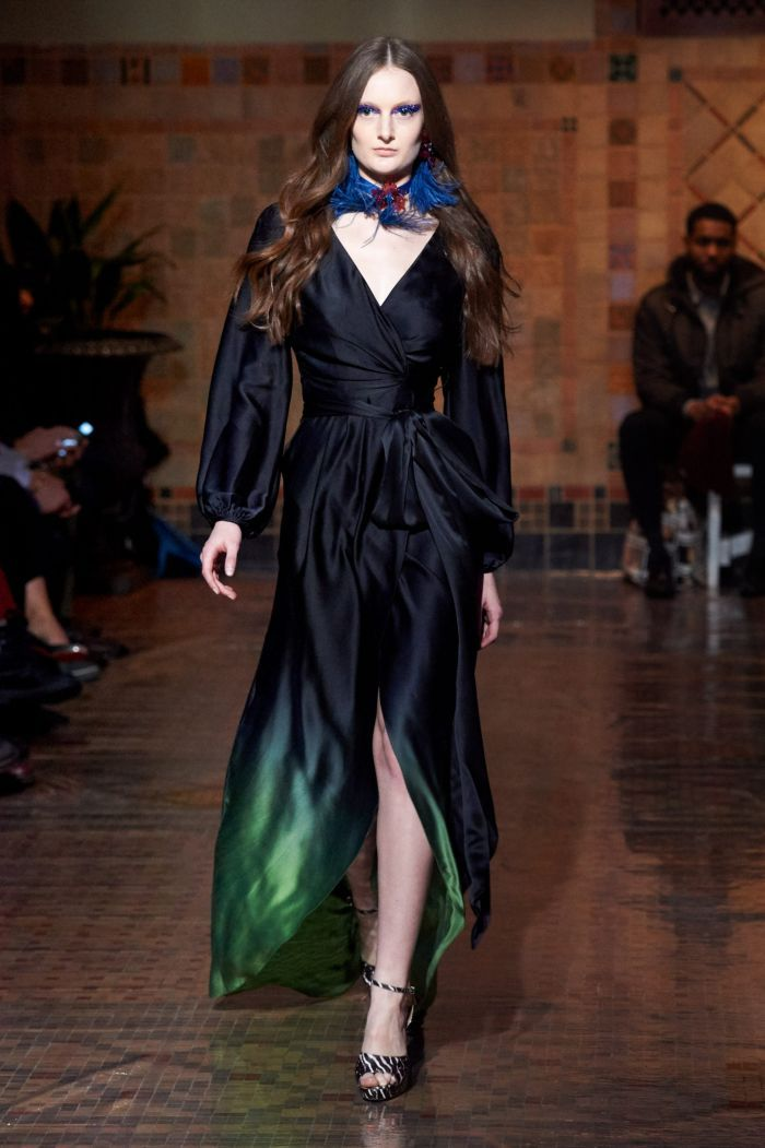 Модное изумрудное платье Cynthia Rowley