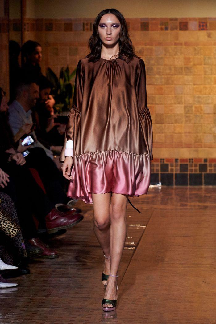 Розово-коричневое платье Cynthia Rowley