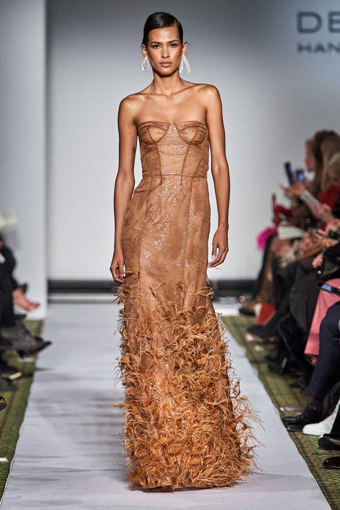 Длинное вечернее платье Dennis Basso