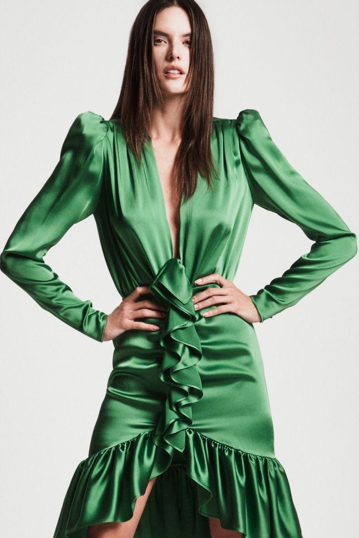 Модное изумрудное платье Dundas
