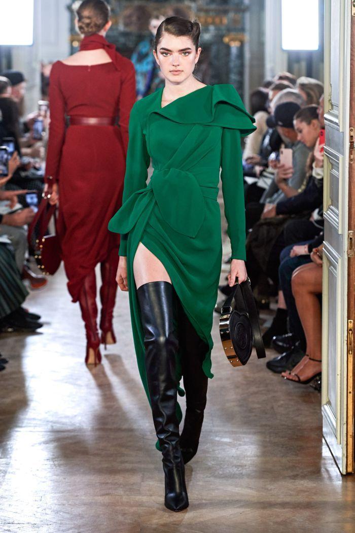 Изумрудное платье Elie Saab