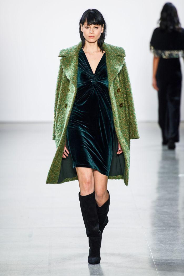 Изумрудное платье Elie Tahari