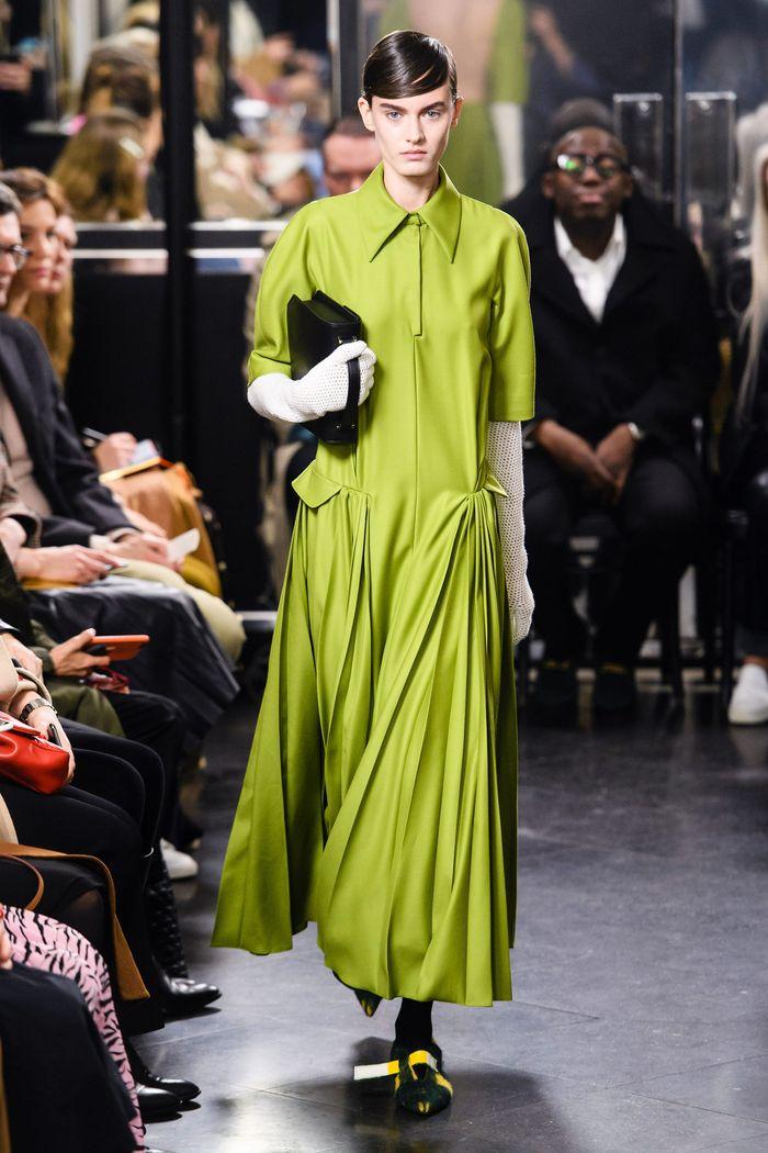 Зеленое платье-рубашка Emilia Wickstead