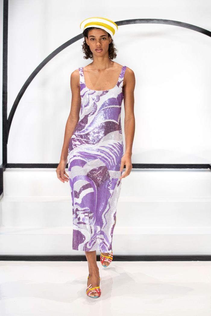 Сиреневое платье с паетками Emilio Pucci