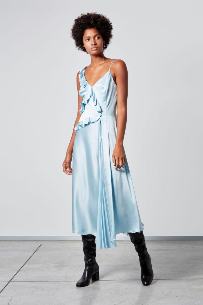 Голубое платье-комбинация Ermanno Scervino