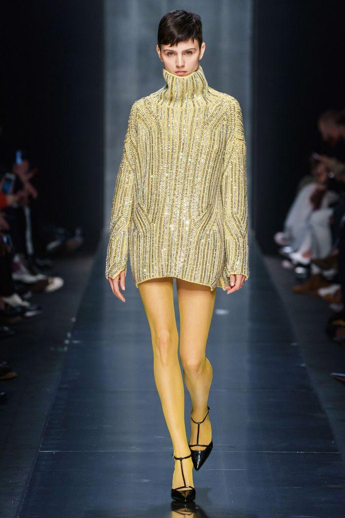 Модное блестящее платье Ermanno Scervino