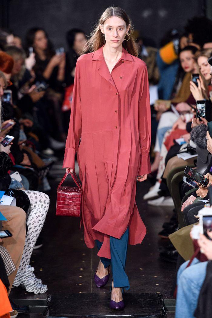 Длинное платье-рубашка Eudon Choi