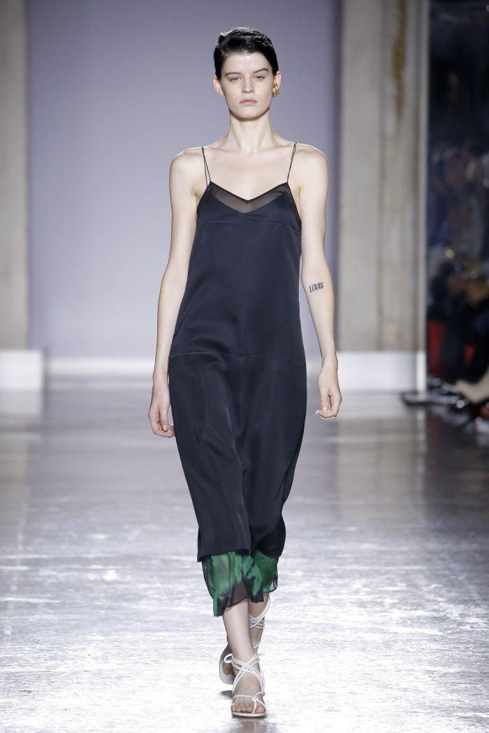 Черное платье-комбинация Gabriele Colangelo