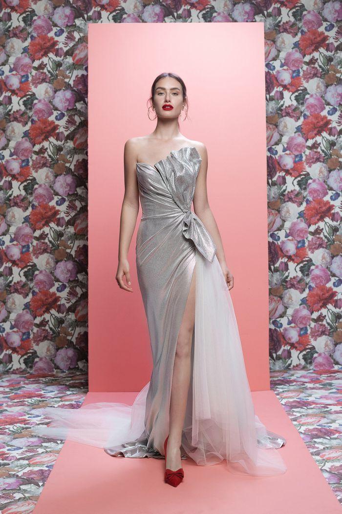 Блестящее свадебное платье Galia Lahav
