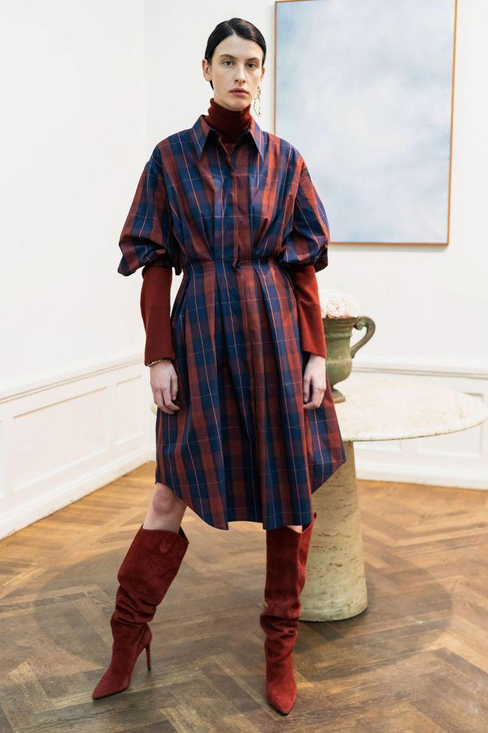 Платье-рубашка в клетку House of Dagmar