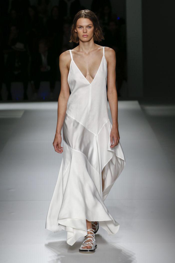 Белое платье-комбинация Hugo Boss