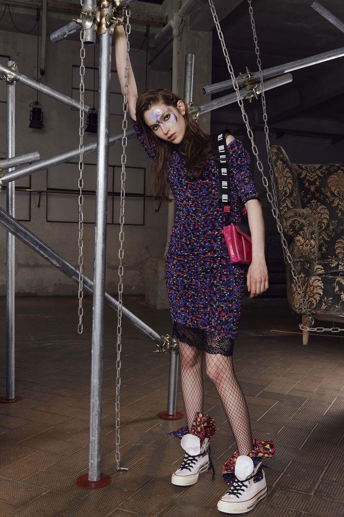 Модное фиолетовое платье I\\\'M Isola Marras