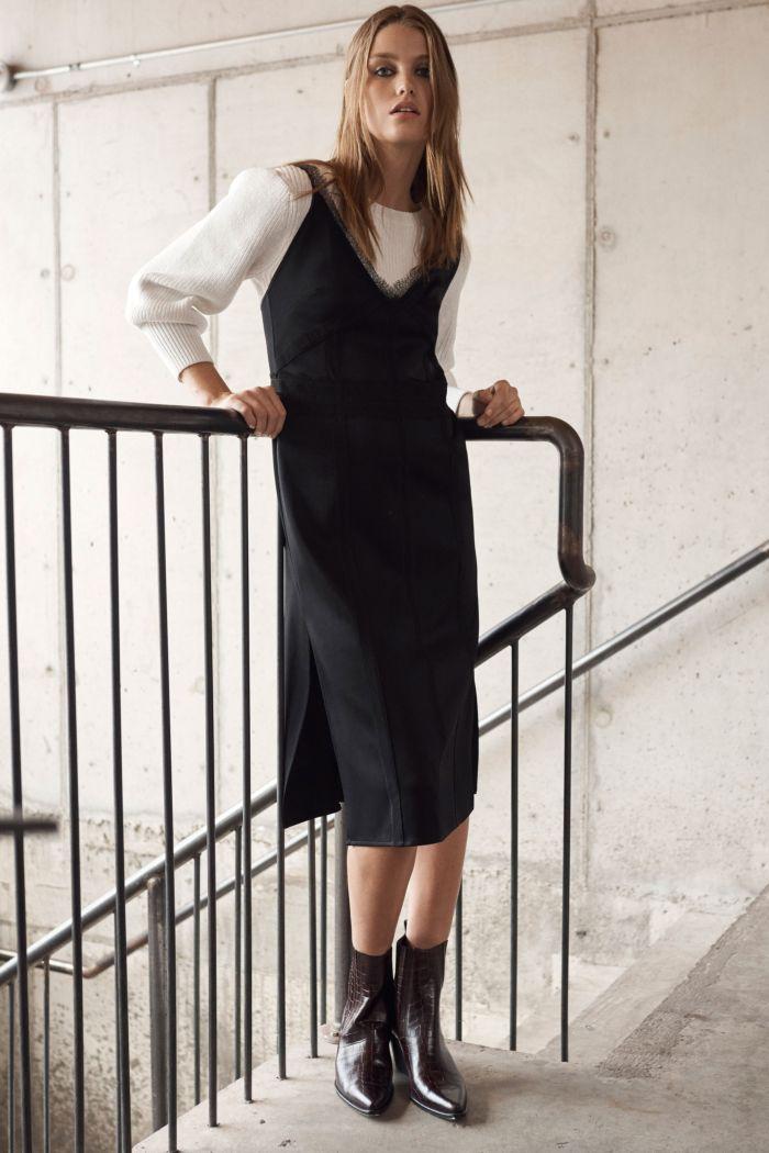 С чем носить платье в бельевом стиле. Образ из коллекции Jason Wu