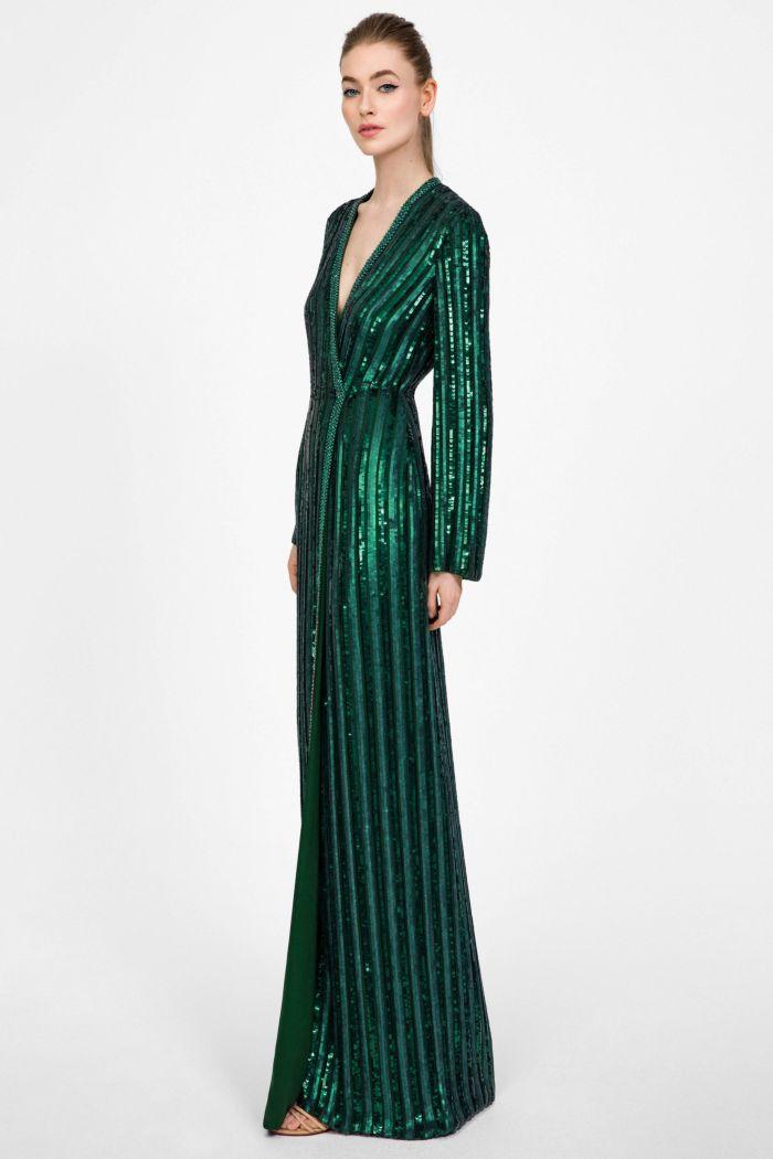 Модное изумрудное платье Jenny Packham