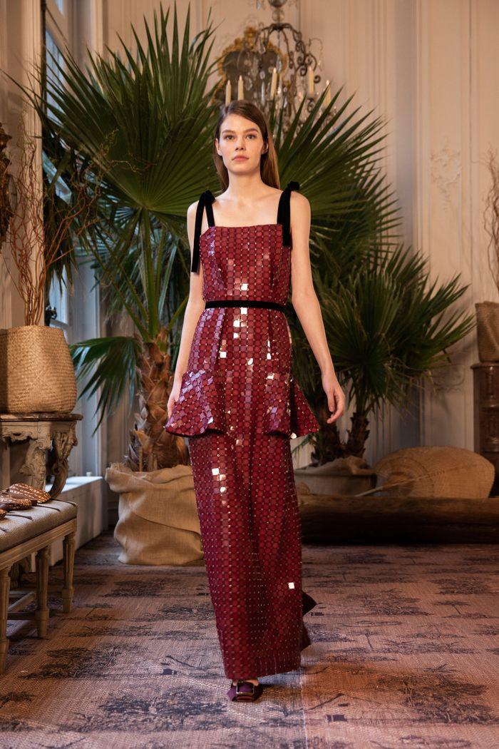 Модное блестящее платье Johanna Ortiz