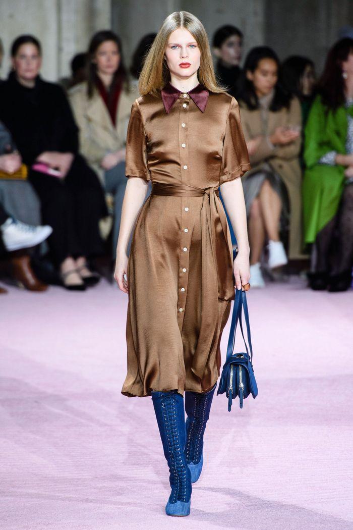 Коричневое платье-рубашка Kate Spade
