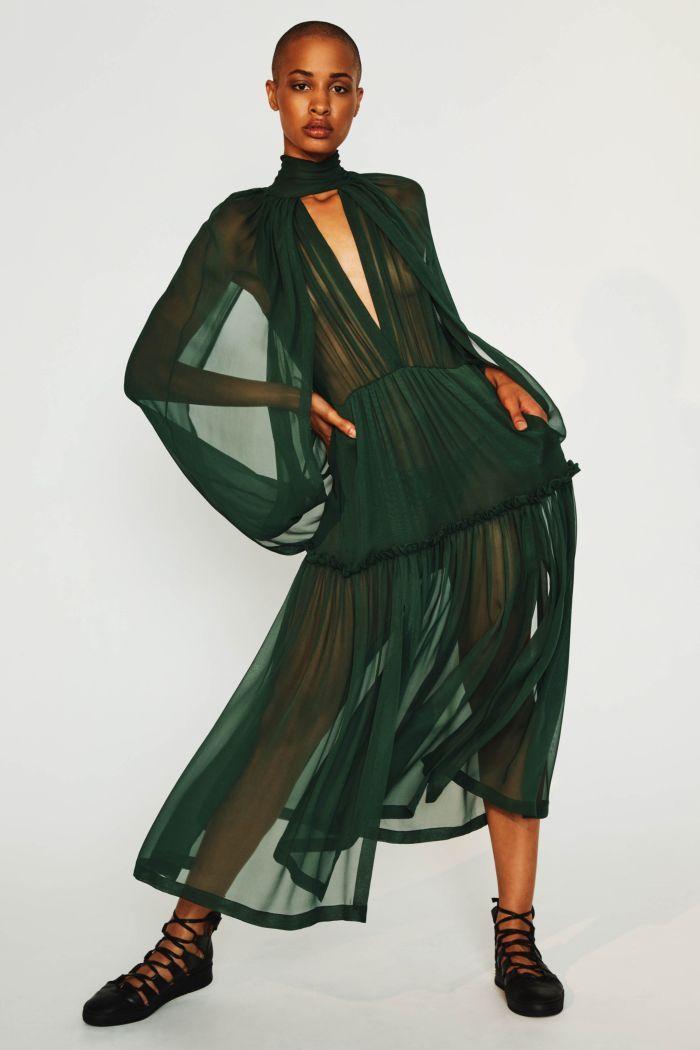 Модное изумрудное платье Kitx