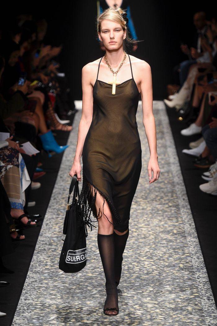 Черное платье-комбинация Marco de Vincenzo