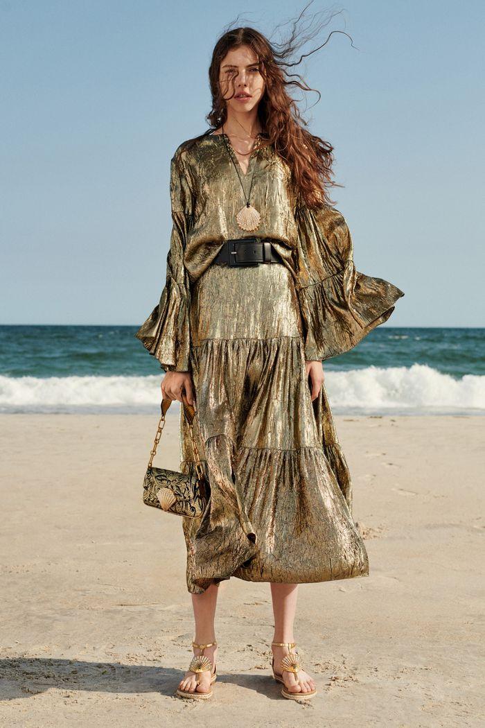 Золотое блестящее платье Michael Kors Collection