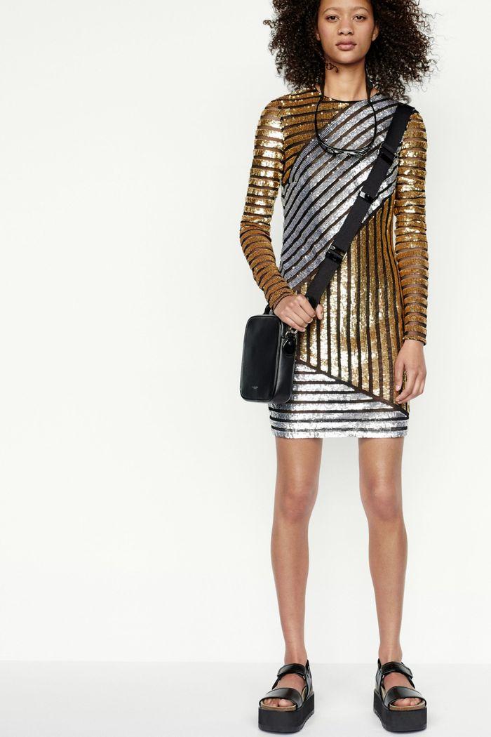 Модное блестящее платье Michael Kors Collection