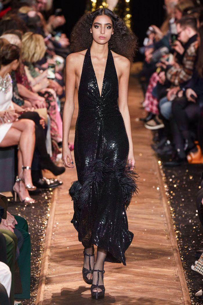 Черное блестящее платье Michael Kors Collection