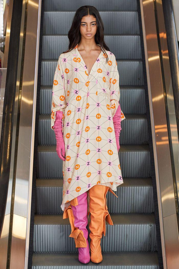 Длинное платье-рубашка Natasha Zinko
