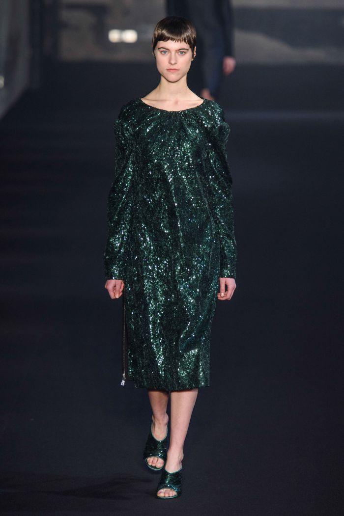 Модное изумрудное платье No. 21
