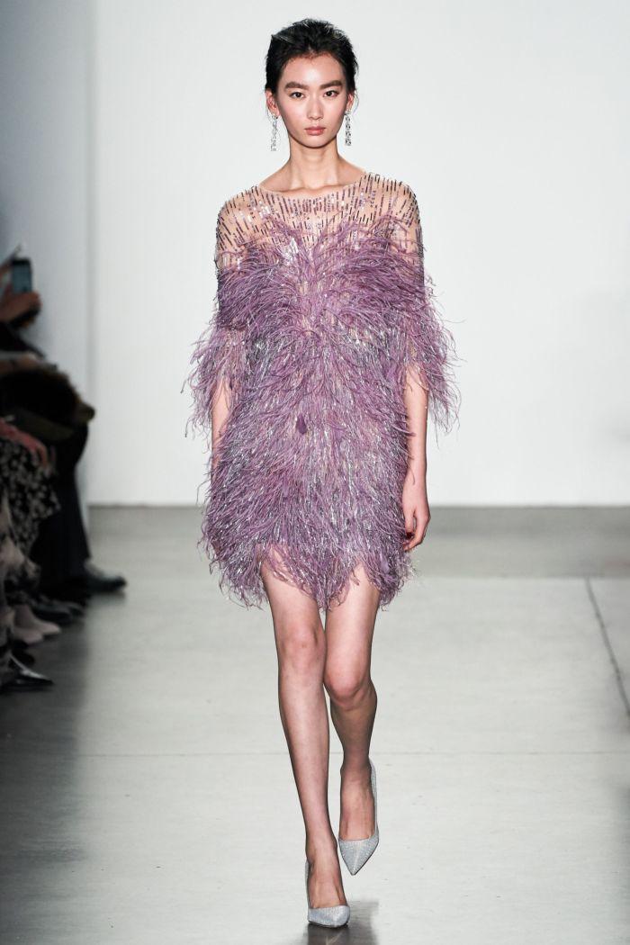 Вечернее сиреневое платье Pamella Roland