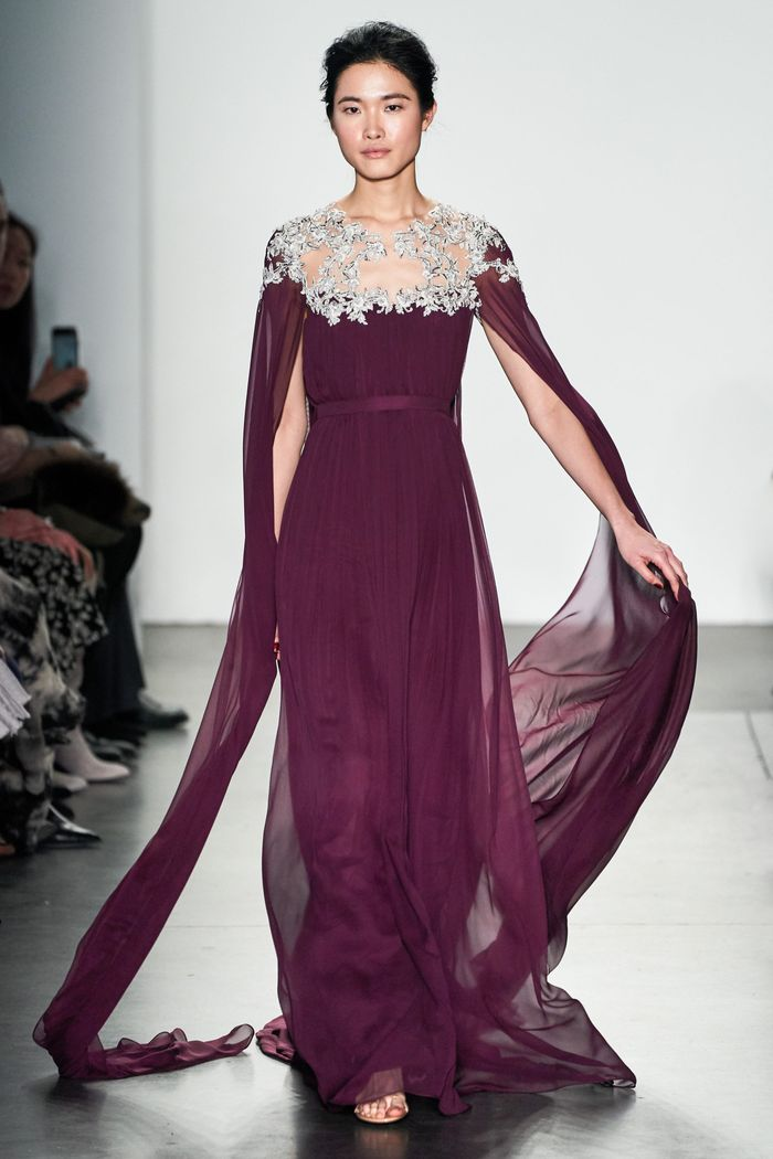 Фиолетовое вечернее платье Pamella Roland