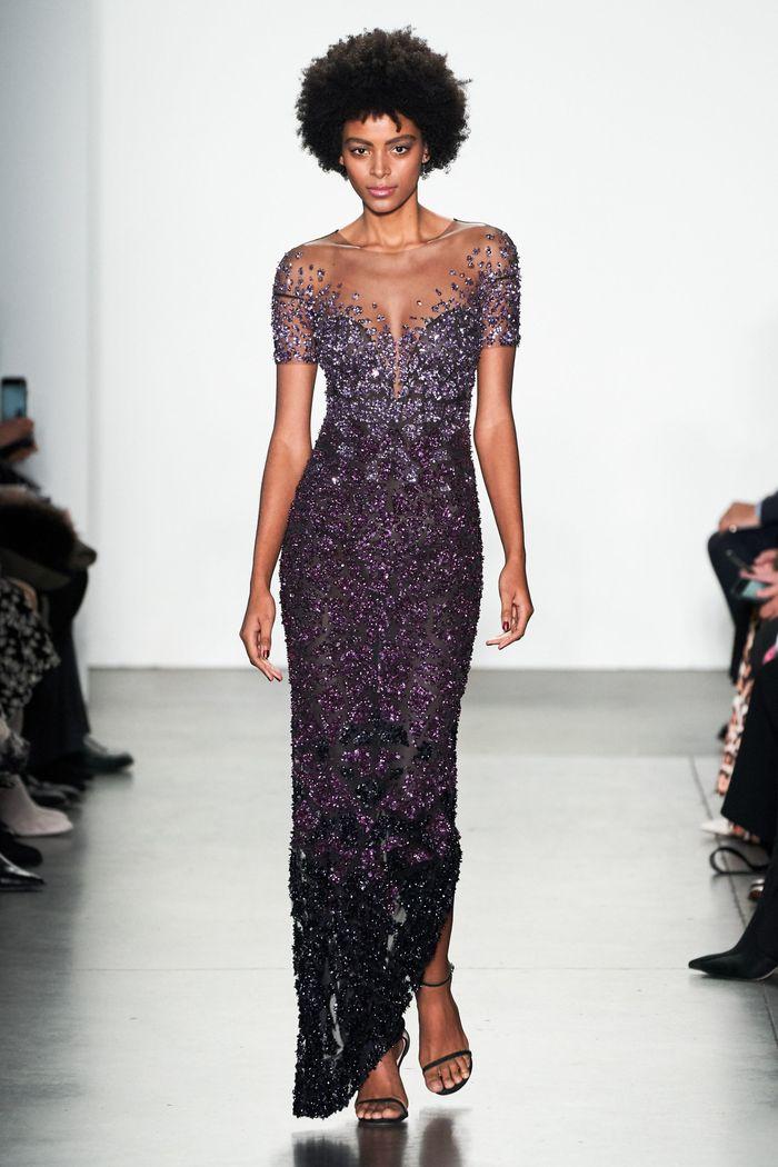 Вечернее блестящее платье Pamella Roland