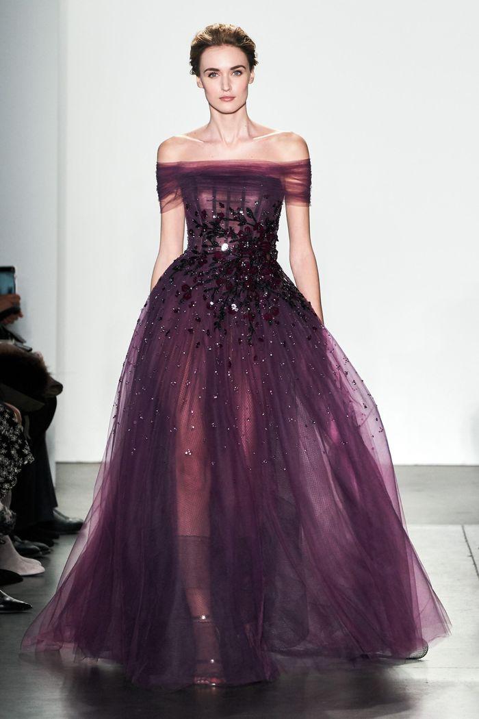 Свадебное фиолетовое платье Pamella Roland