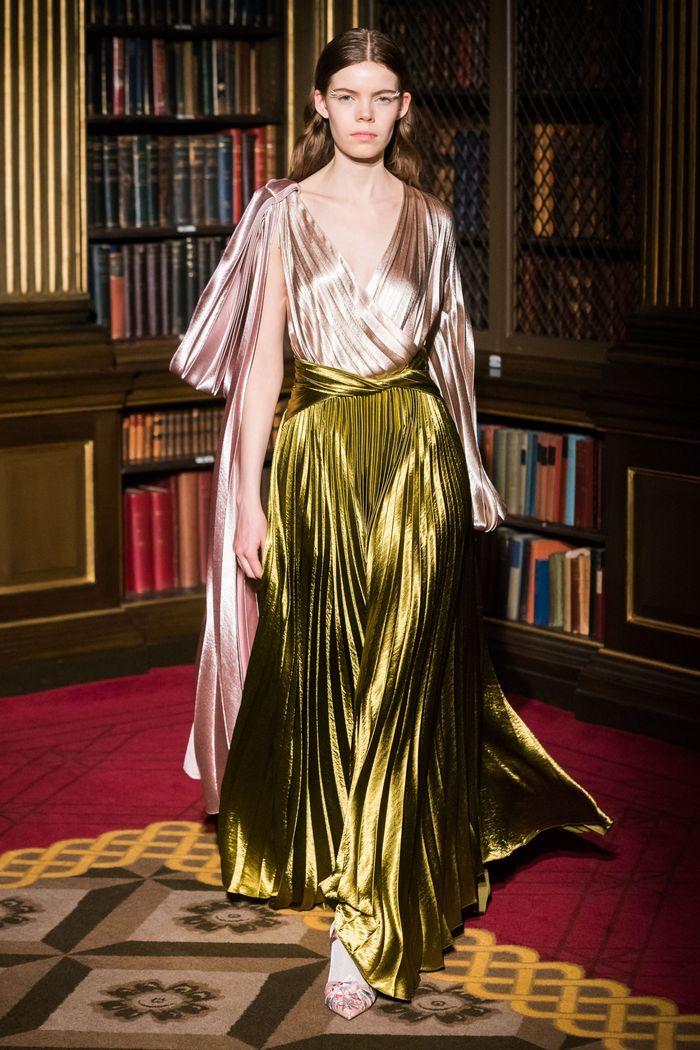 Блестящее платье плиссе Peter Pilotto
