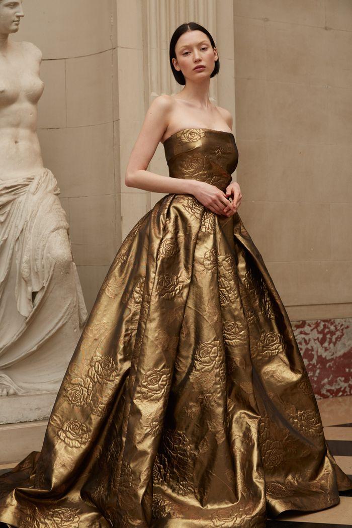 Вечернее блестящее платье Reem Acra