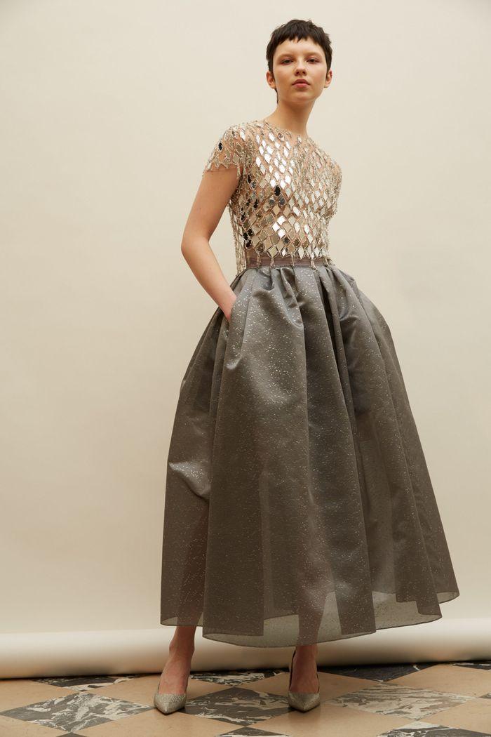 Модное блестящее платье Reem Acra