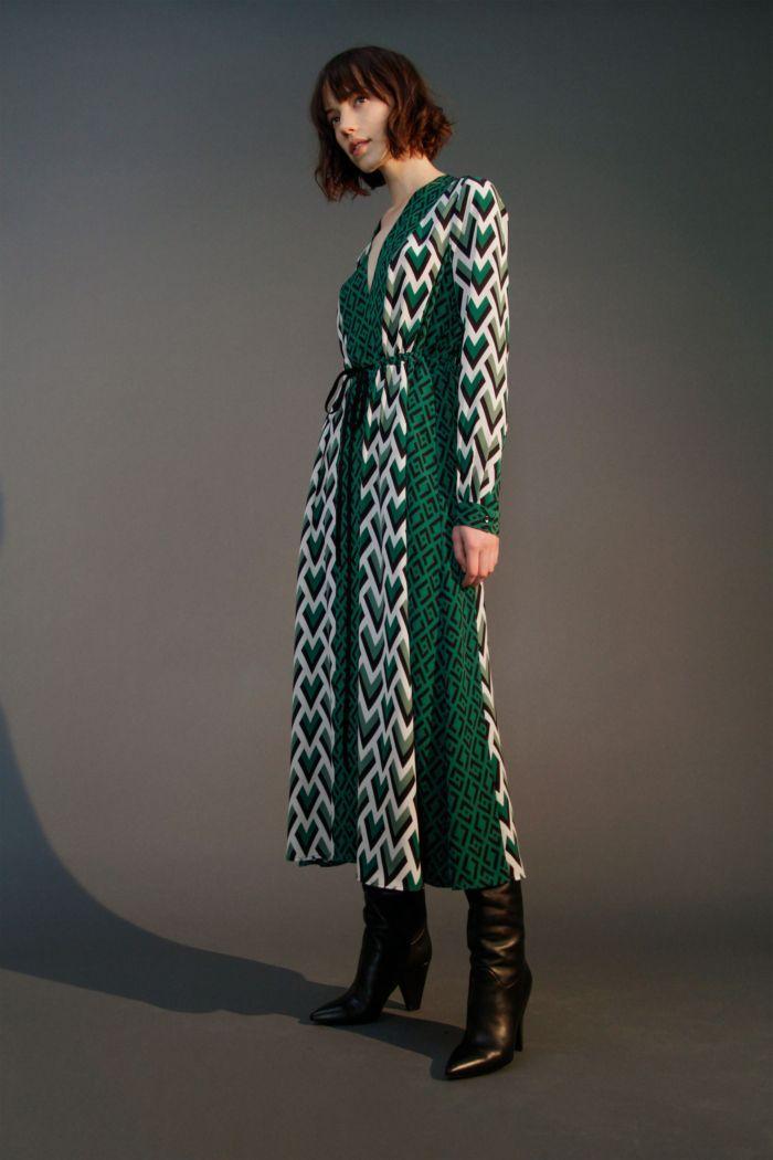 Модное изумрудное платье Robert Rodriguez