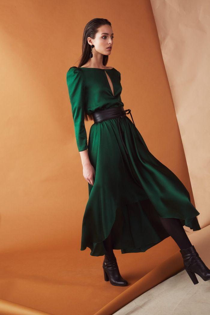 Модное изумрудное платье Sachin & Babi
