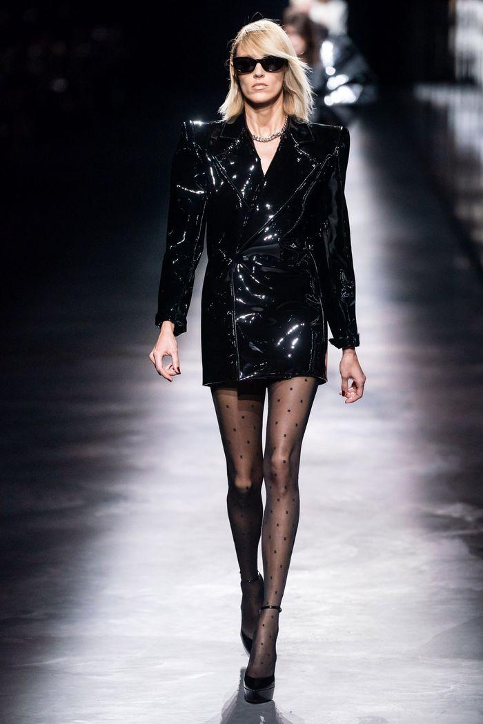 Блестящее платье-пиджак Saint Laurent