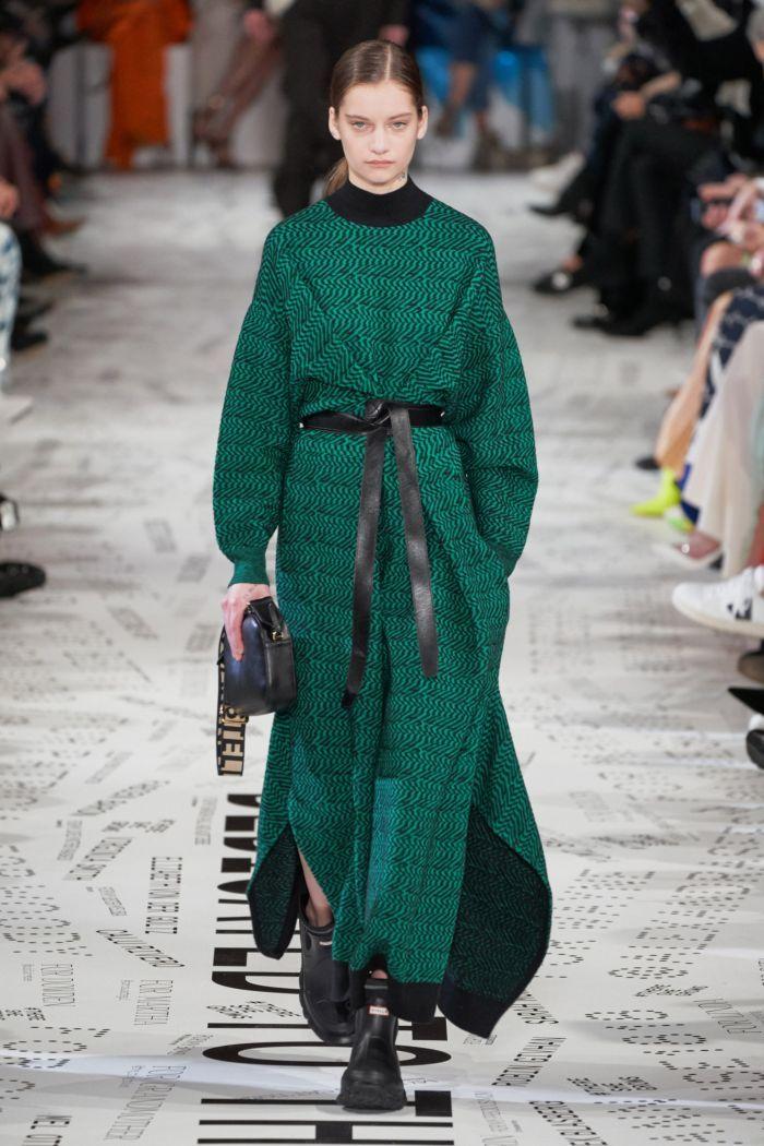 Модное изумрудное платье Stella McCartney