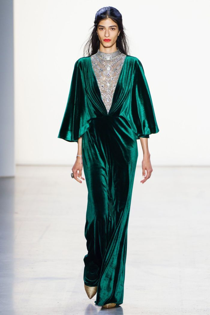 Модное изумрудное платье Tadashi Shoji
