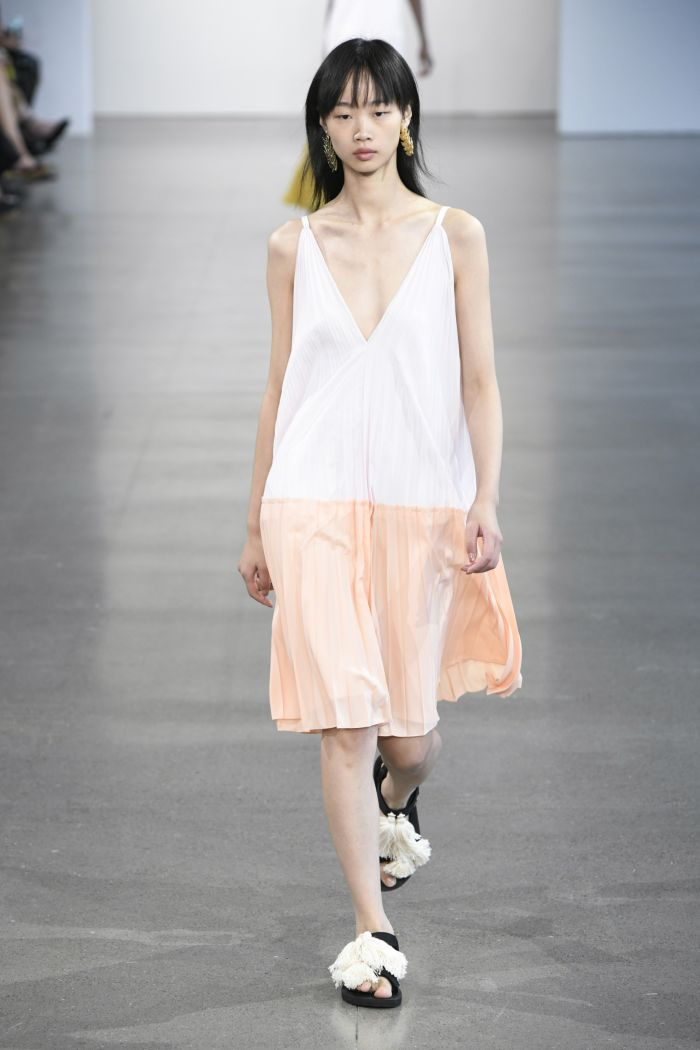 Белое платье-комбинация Tome