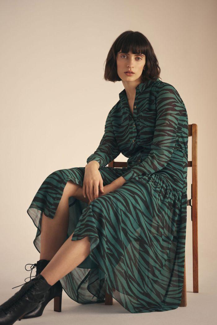 Модное изумрудное платье Whistles