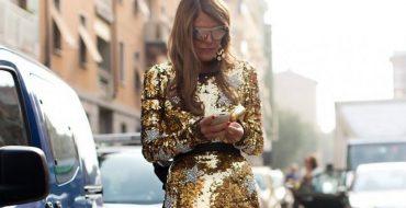 Модное блестящее платье