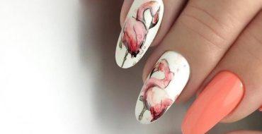 Фото маникюра с фламинго