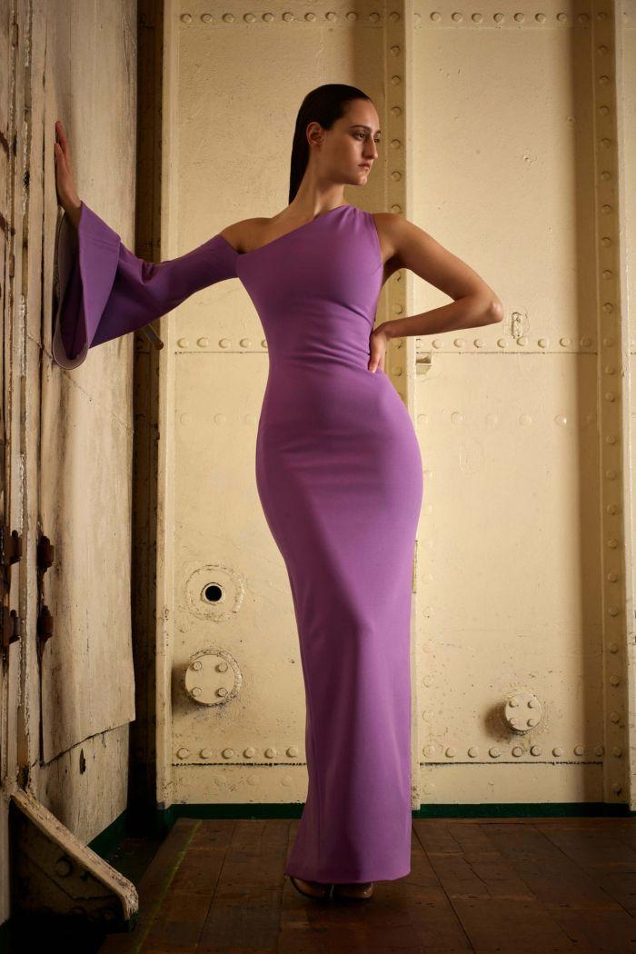 Вечернее сиреневое платье в пол Solace London