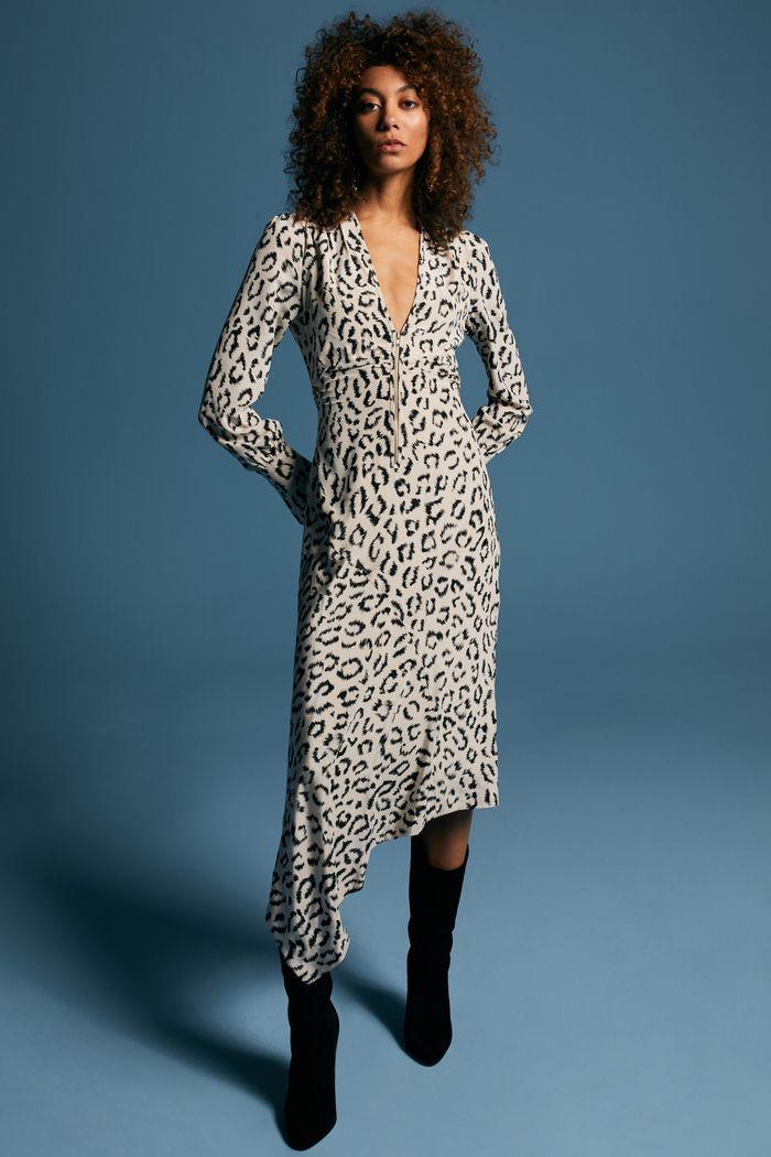 Модное черно-белое платье A.L.C.