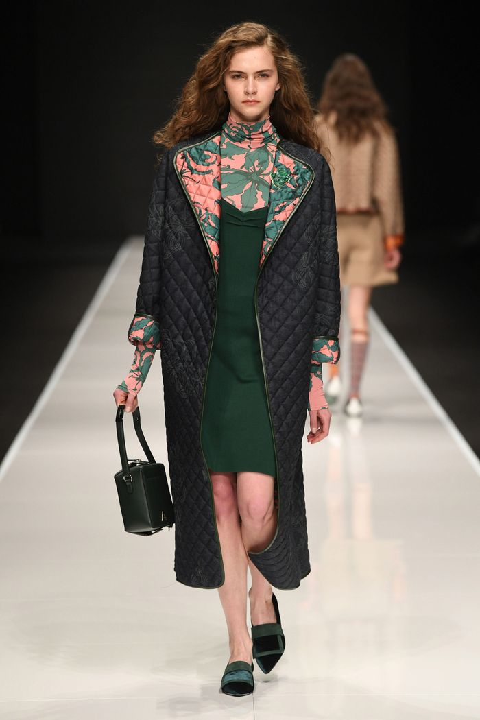 Модное стеганное пальто осень-зима 2019-2020 из коллекции Anteprima