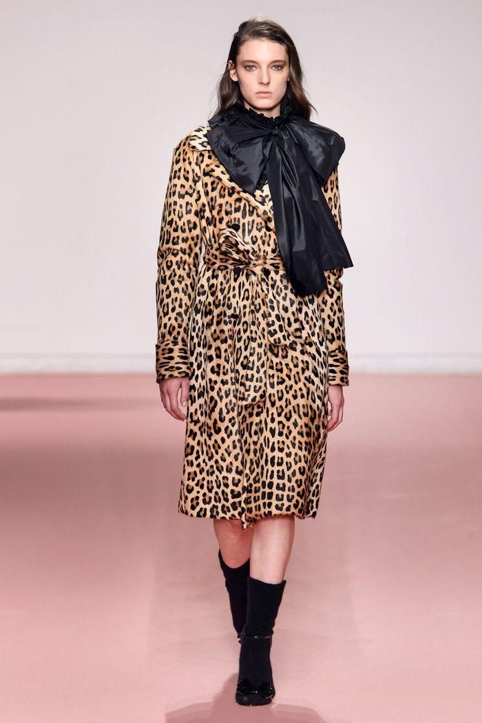 Модное леопардовое пальто осень-зима 2019-2020 из коллекции Blumarine