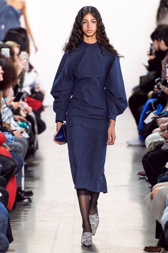 Модные цвета платьев осень-зима 2019-2020. Коллекция Calvin Luo